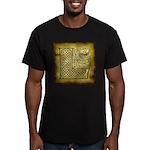 Celtic Letter L Men's Fitted T-Shirt (dark)
