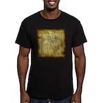 Celtic Letter N Men's Fitted T-Shirt (dark)