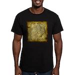 Celtic Letter P Men's Fitted T-Shirt (dark)