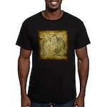 Celtic Letter Q Men's Fitted T-Shirt (dark)