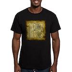 Celtic Letter R Men's Fitted T-Shirt (dark)