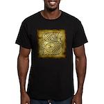 Celtic Letter S Men's Fitted T-Shirt (dark)