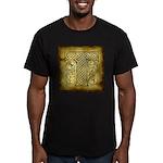 Celtic Letter T Men's Fitted T-Shirt (dark)