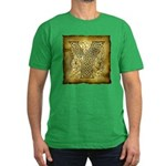 Celtic Letter Y Men's Fitted T-Shirt (dark)