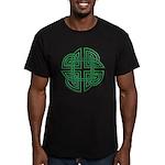 Celtic Four Leaf Clover Men's Fitted T-Shirt (dark
