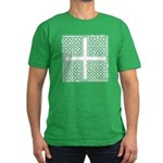 Celtic Square Cross Men's Fitted T-Shirt (dark)