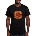 Celtic Knotwork Sun Men's Fitted T-Shirt (dark)