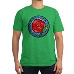 Celtic Rose Stained Glass Men's Fitted T-Shirt (da