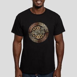 Celtic Cat Men's Fitted T-Shirt (dark)