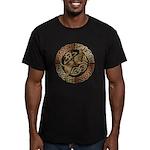 Celtic Dog Men's Fitted T-Shirt (dark)