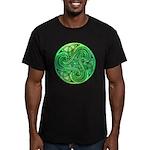 Celtic Triskele Men's Fitted T-Shirt (dark)