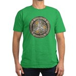 Bejeweled Celtic Shield Men's Fitted T-Shirt (dark