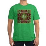 Celtic Dragon Labyrinth Men's Fitted T-Shirt (dark