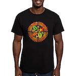 Celtic Autumn Leaves Men's Fitted T-Shirt (dark)