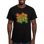 Celtic Leaf Tesselation Men's Fitted T-Shirt (dark
