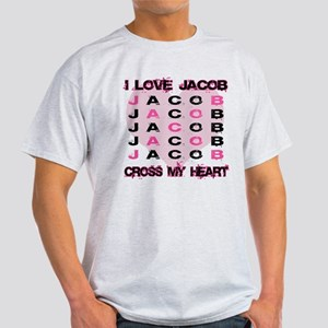 Twilight Shirt-I Love Jacob Cross My Heart Light T
