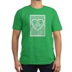 Celtic Knotwork Heart Men's Fitted T-Shirt (dark)