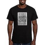 Celtic Cloverleaf Men's Fitted T-Shirt (dark)