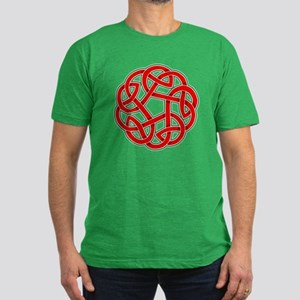 Celtic Christmas Knot Men's Fitted T-Shirt (dark)