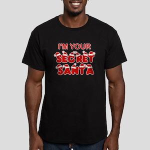 Secret Santa Men's Fitted T-Shirt (dark)
