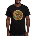 Celtic Reindeer Shield Men's Fitted T-Shirt (dark)