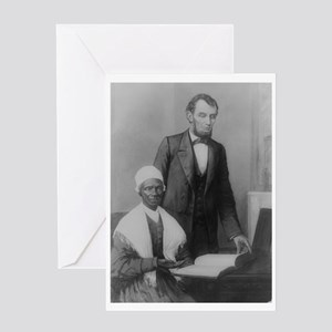 Lincoln and Sojurner Truth Greeting Card