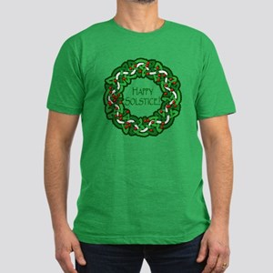 Celtic Solstice Wreath Men's Fitted T-Shirt (dark)