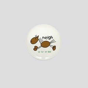 Brown Horse Mini Button