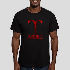 Red Aries Symbol Men's Fitted T-Shirt (dark)
