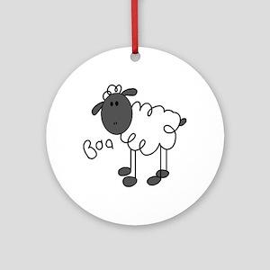 Baa Sheep Ornament (Round)