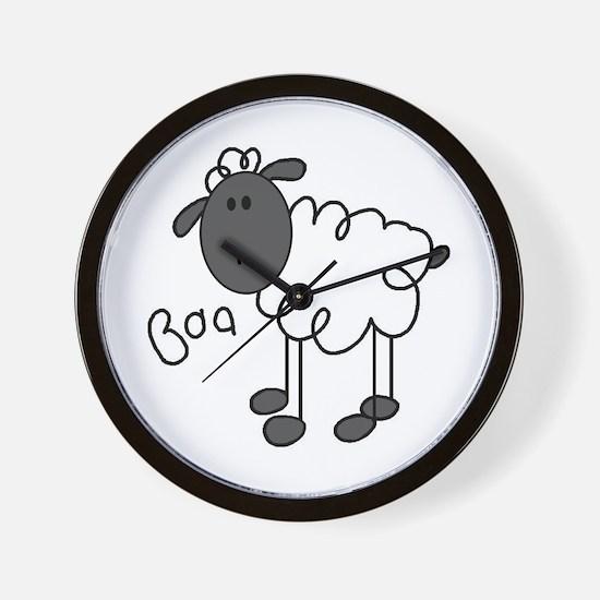 Baa Sheep Wall Clock