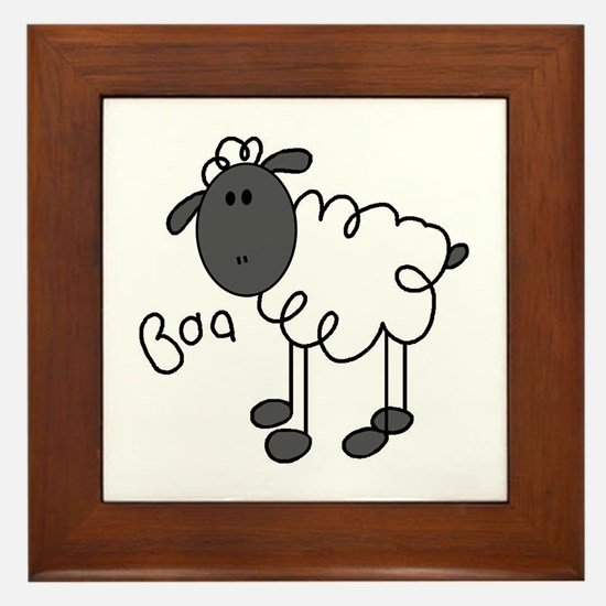Baa Sheep Framed Tile