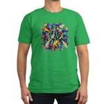 Leaves on Water Men's Fitted T-Shirt (dark)
