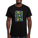 Leaf Mosaic Men's Fitted T-Shirt (dark)