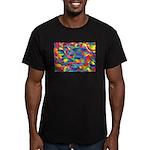 Cosmic Ribbons Men's Fitted T-Shirt (dark)