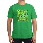 Through the Leaves Watercolor Men's Fitted T-Shirt
