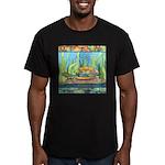 Tie Dye Turtle Watercolor Men's Fitted T-Shirt (da