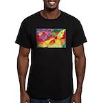Fruit Watercolor Men's Fitted T-Shirt (dark)