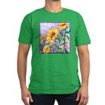 Sunny Sunflowers Watercolor Men's Fitted T-Shirt (