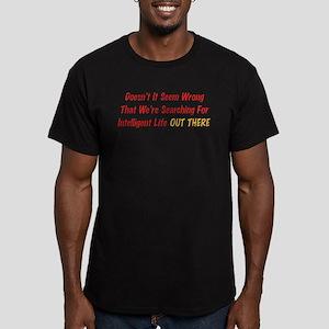Intelligent Life Men's Fitted T-Shirt (dark)