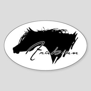 Arabian Horse Oval Sticker