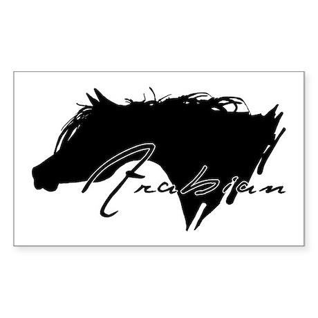 Arabian Horse Rectangle Sticker