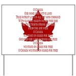 Canada Anthem Souvenir Yard Sign