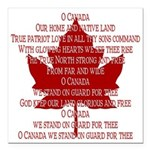"Canada Anthem Souvenir Square Car Magnet 3"" x 3"""