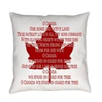 Canada Anthem Souvenir Everyday Pillow