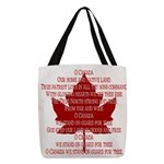 Canada Anthem Souvenir Polyester Tote Bag