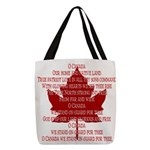 Canada Anthem Souvenir Polyester Tote Bag
