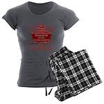 Canada Anthem Souvenir Women's Charcoal Pajamas