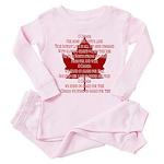 Canada Anthem Souvenir Toddler Pink Pajamas