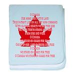 Canada Anthem Souvenir baby blanket